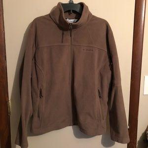 Columbia 2X Brown Fleece Jacket